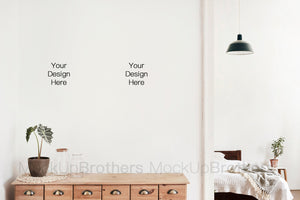 Interior mockup for large painting by MOckup Brothers