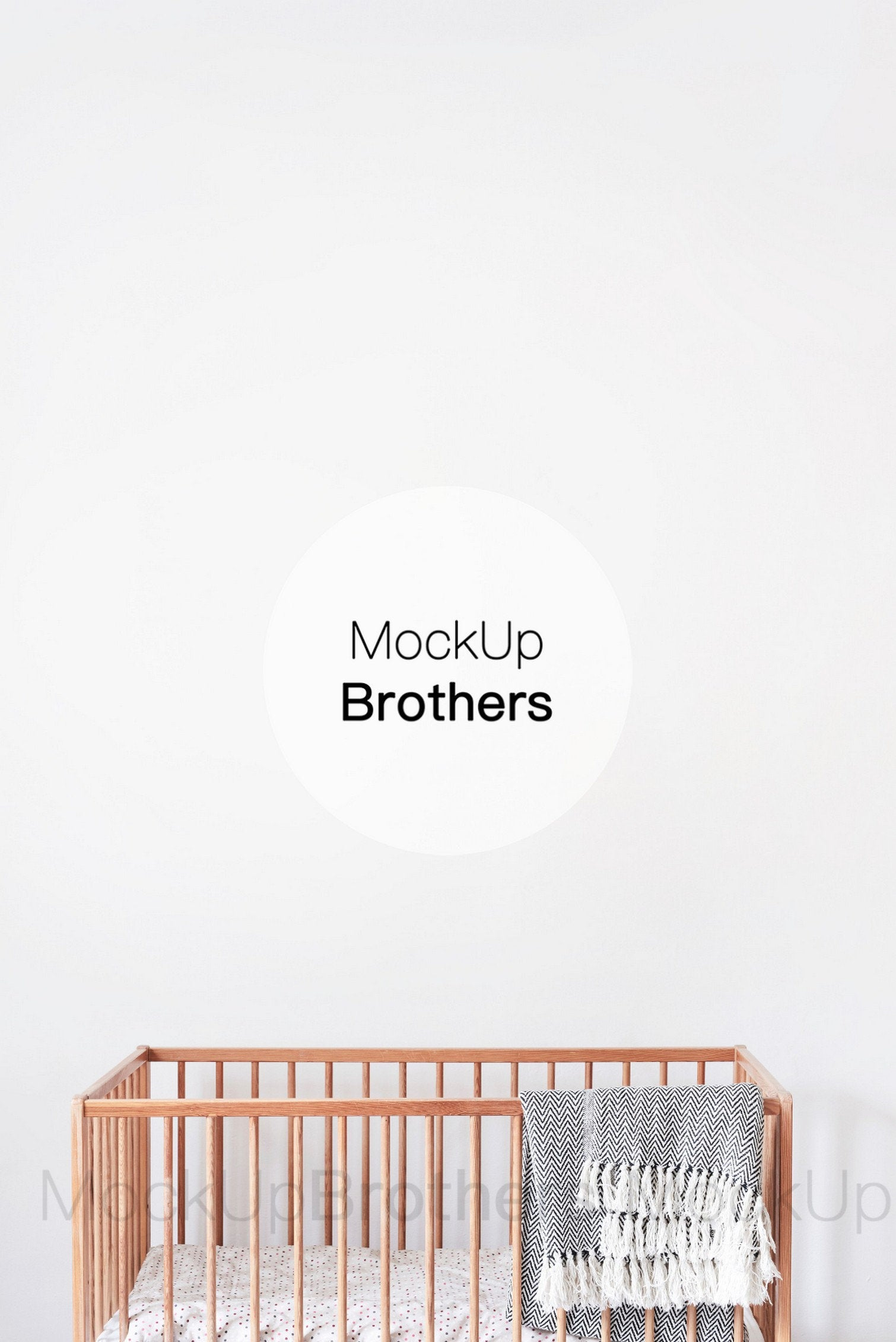 Nursery wall stock photo by Mockup Brothers