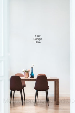 Modern interior stock photo with blank wall