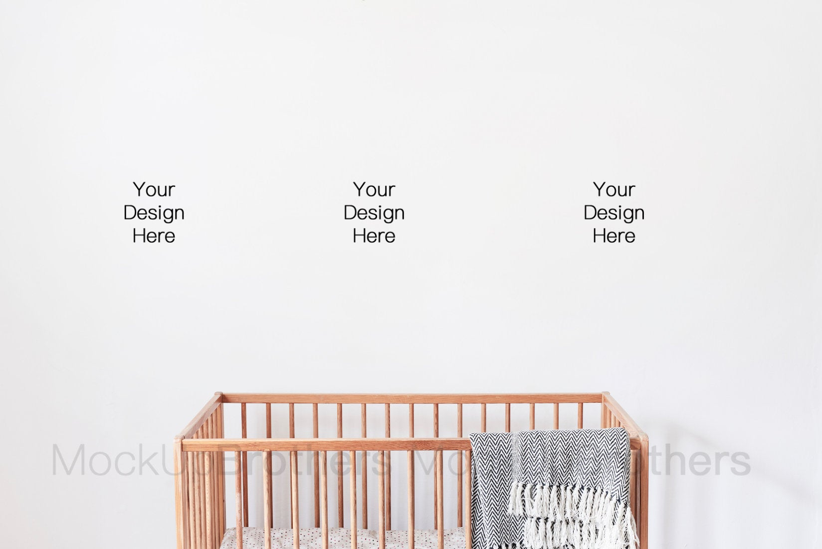 Toddler room mockup with white wall by mockupbrothers