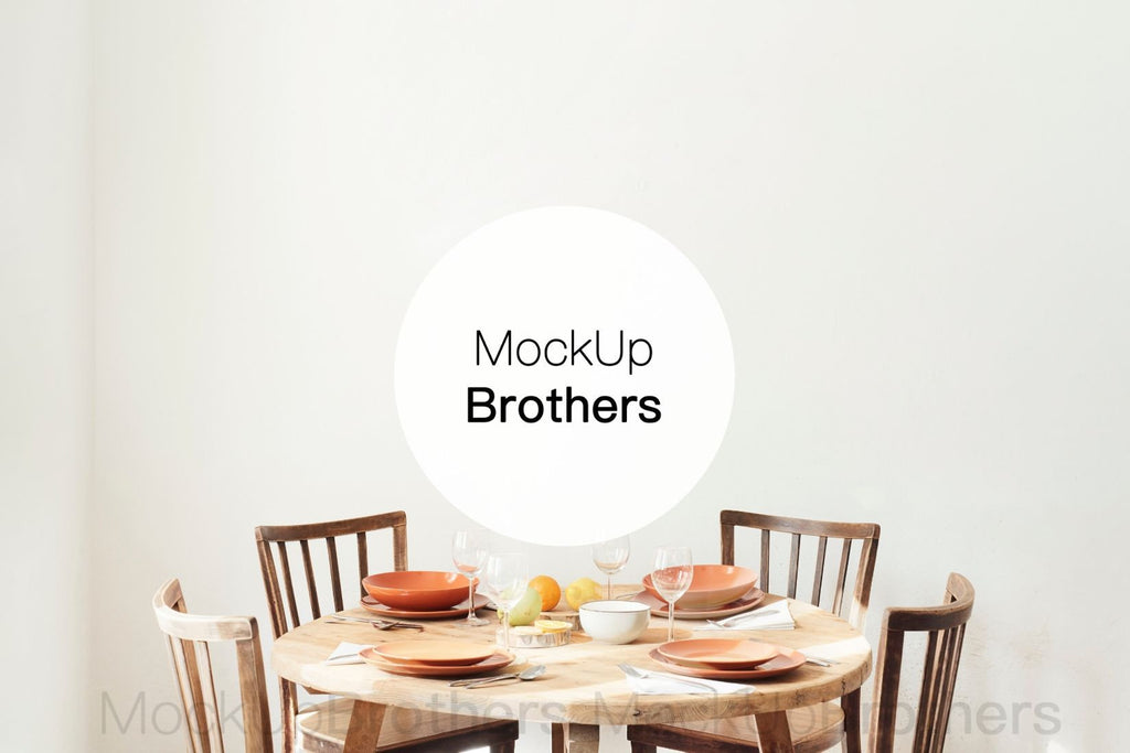 Dining room wall stock photo by Mockup Brothers