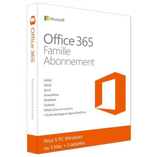 Abonnement Microsoft Office 365 Famille - CodeKey Activation