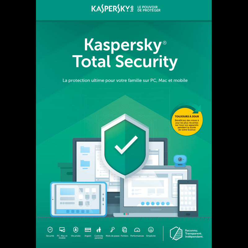 Code d'activation Kaspersky Total Security (1Appareil/1an) - CodeKey Activation