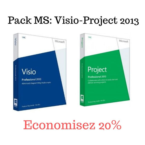 Pack MS Visio+MS Project 2013 - CodeKey Activation