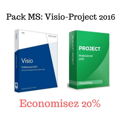 Pack MS Visio+MS Project 2016 - CodeKey Activation