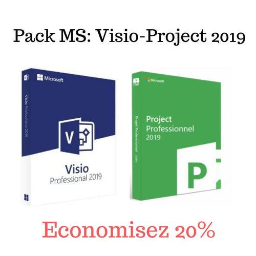 Pack MS Visio+MS Project 2019 - CodeKey Activation