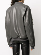 Load image into Gallery viewer, Leather bomber jacket