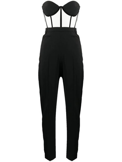 Contrast two-tone jumpsuit
