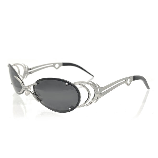 DAVID KOMA x CHRISHABANA The Sliver Sunglasses Silver / Black