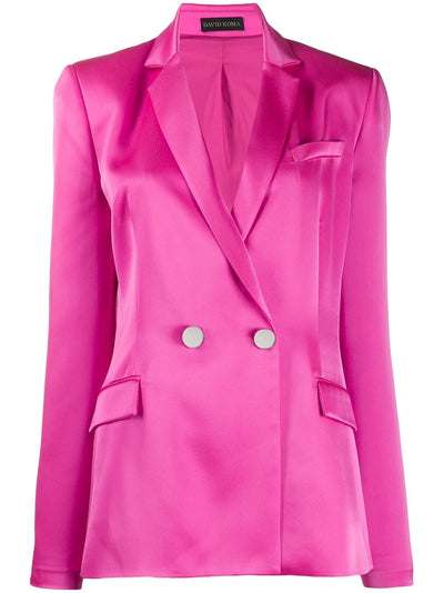 Satin tailored jacket