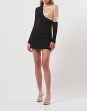 Load image into Gallery viewer, Sequin insert mini dress