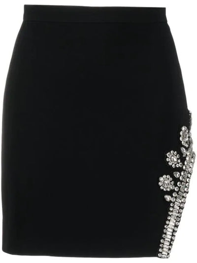 Asymmetric hem mini skirt