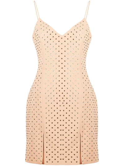 Cami mini dress with embroidary