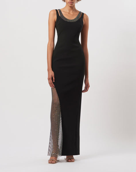 Crystal mesh gown