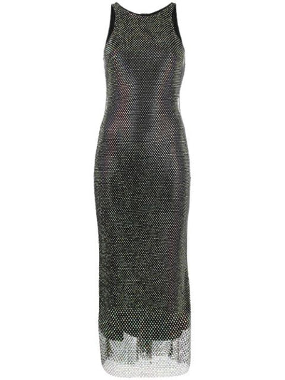 Crystal mesh midi dress