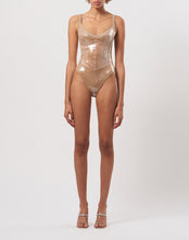 Load image into Gallery viewer, Corset and sequin bodysuit