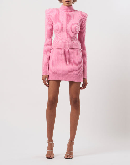 Embroidered knit jumper