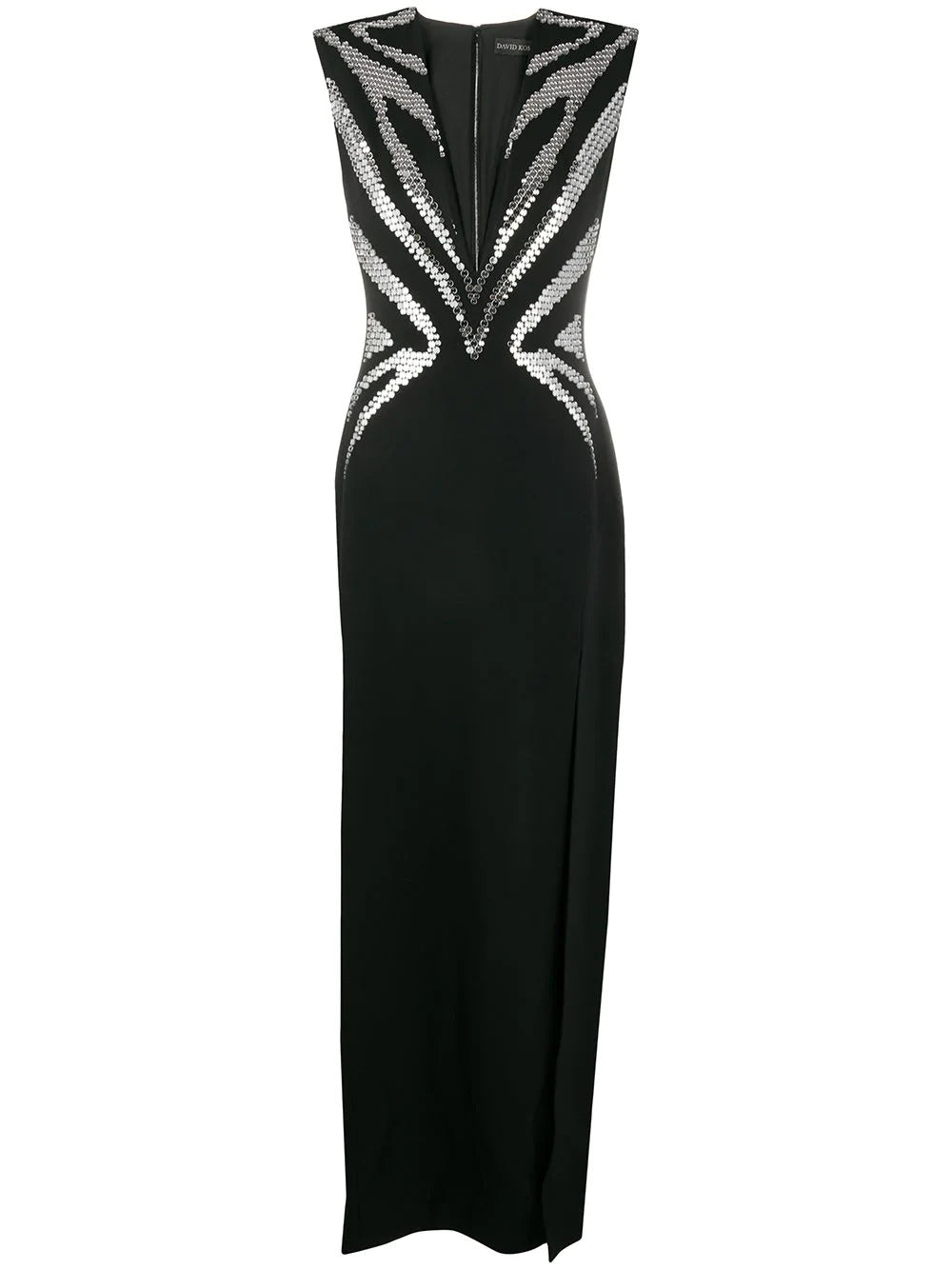 Plexi embroidered gown
