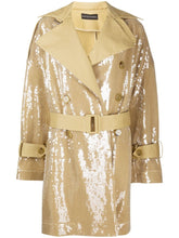 Load image into Gallery viewer, Sequin panelled trench coat