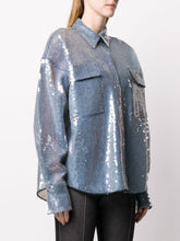 Load image into Gallery viewer, Sequin oversized shirt