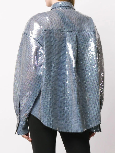 Sequin oversized shirt