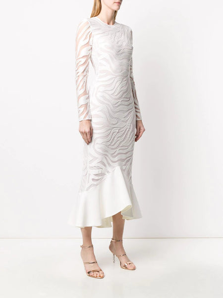 Macramé midi dress