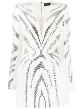 Load image into Gallery viewer, All over plexi embroidered mini dress