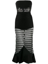 Load image into Gallery viewer, Macramé strapless midi dress