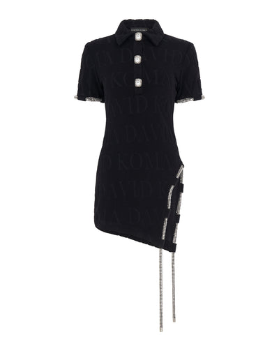 Crystal Embroidered Tube Detailing Short Sleeve Tunic