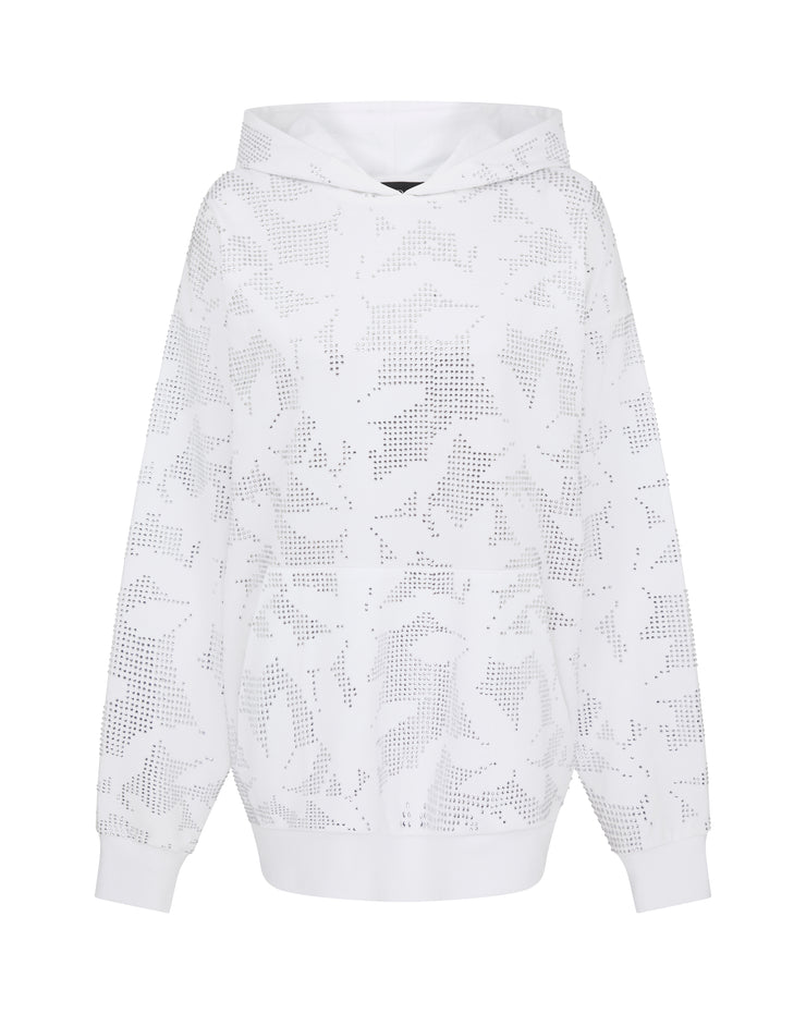 Flower Embroidered Oversized Hoodie