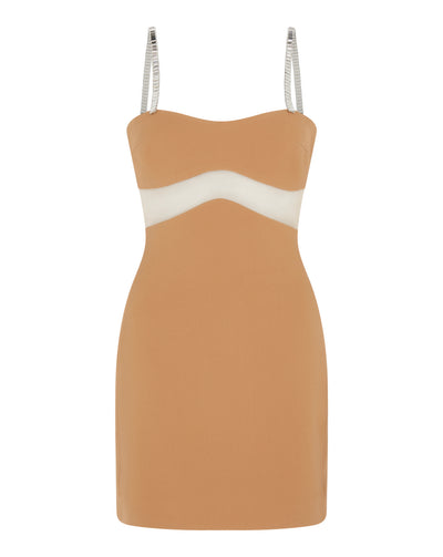 Cutout Midriff Mini Dress