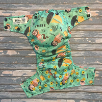 Green Wild Things Cloth Diaper - Made to Order