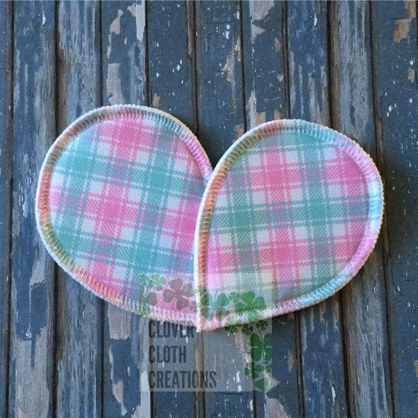 Pink Plaid Breast Pads - Ready to Ship