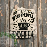 I'm the Reason Mommy Needs Coffee Cloth Diaper - Made to Order