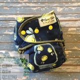 Fireflies Fitted Cloth Diaper - Ready to Ship