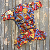 Snacks Tossed Cloth Diaper - Made to Order