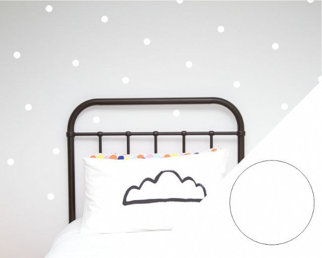 Wall Stickers - Sml White Dots - SAVE 40% - WAS $28.95 NOW $17.35