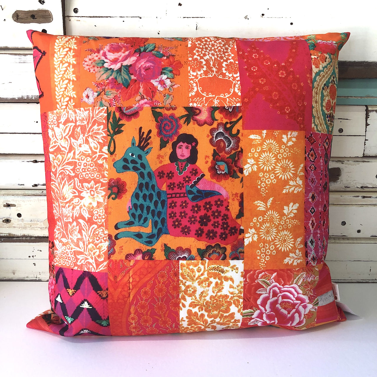 Tangerine Outdoor Canvas Cushion