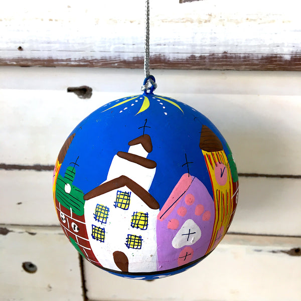 Papier Mache Christmas Bauble Village - Ruby Star