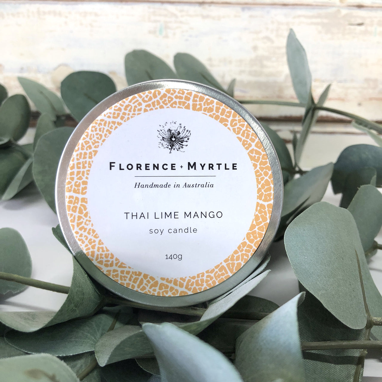 Soy Candle Travel Tin - Lime Mango