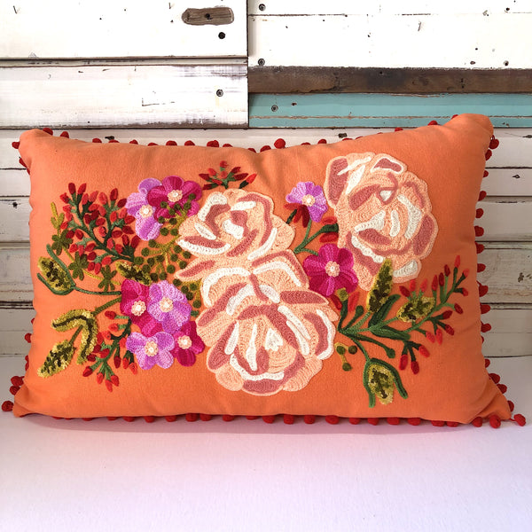 Rose Cushion - Coral Large
