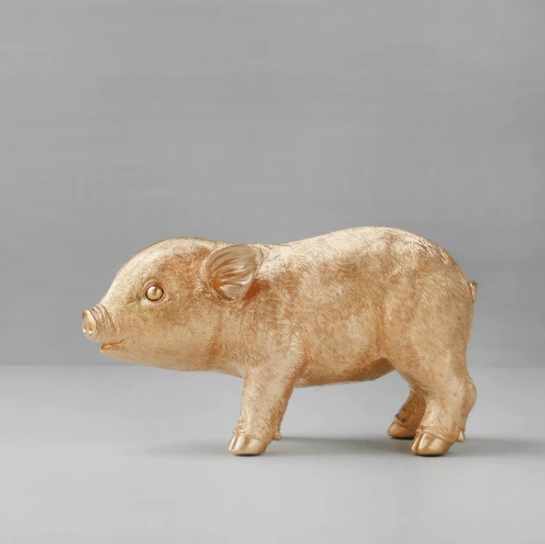 Gold Pig Money Box