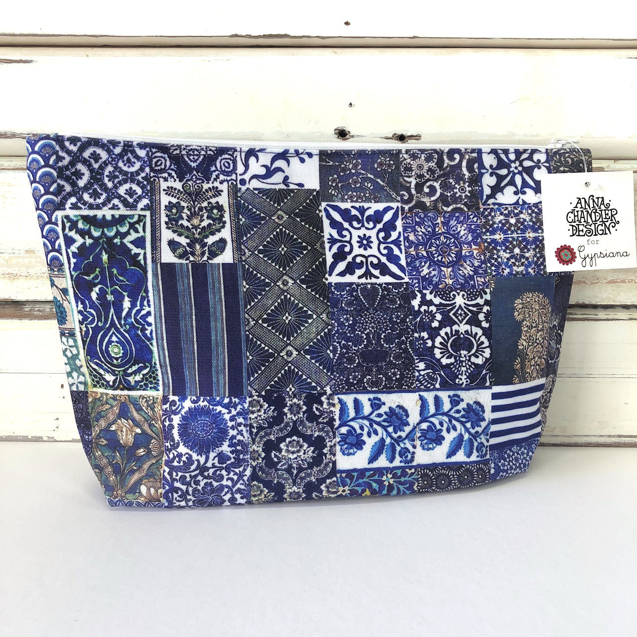Canvas Make Up Bag - Indigo