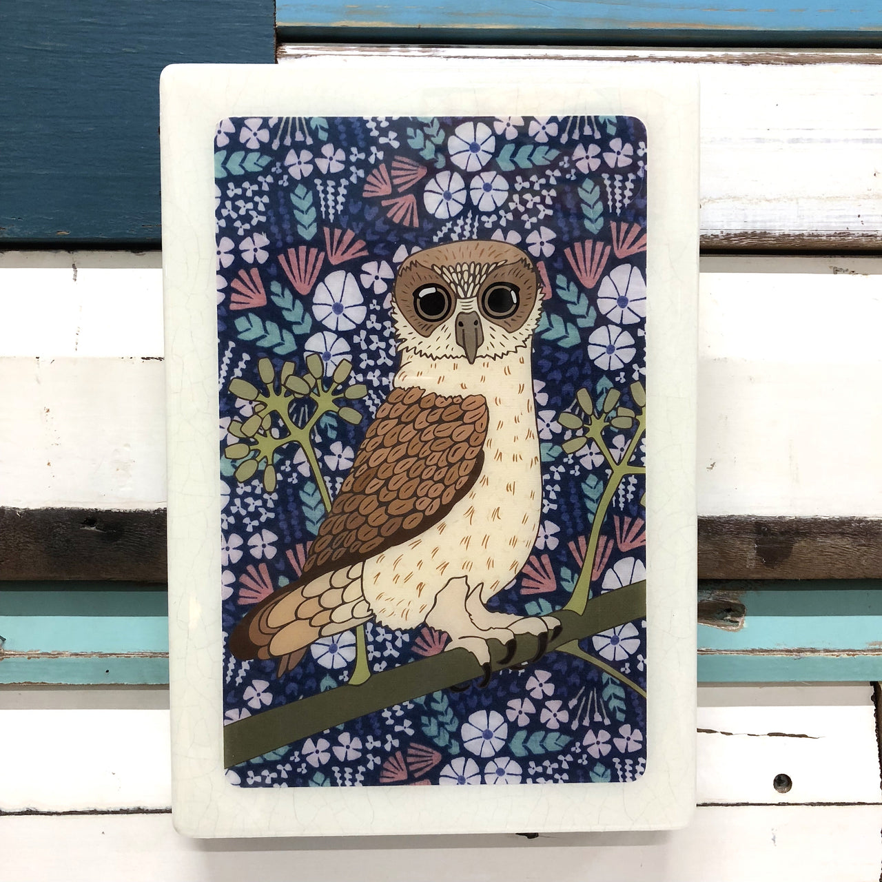 Maxi Woodblock - Bookbook Owl