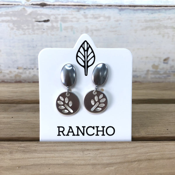 Seedling Disk Earrings - Silver
