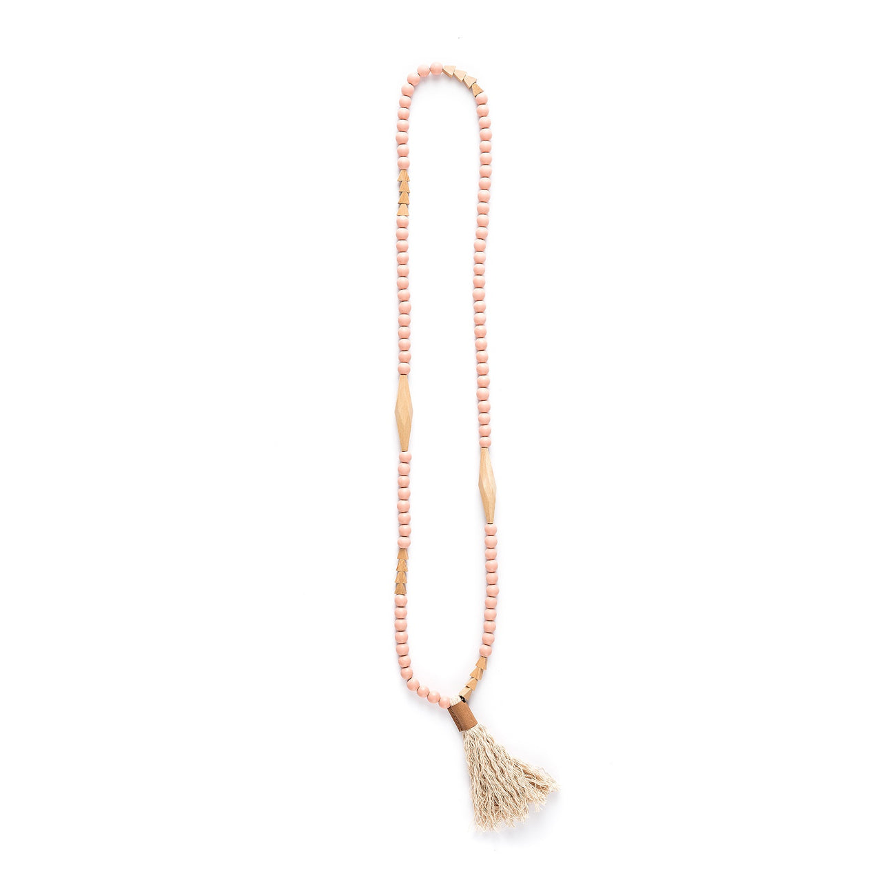 Tent Beads Necklace - Blush ~ WAS $35.95 ~ NOW $17.95