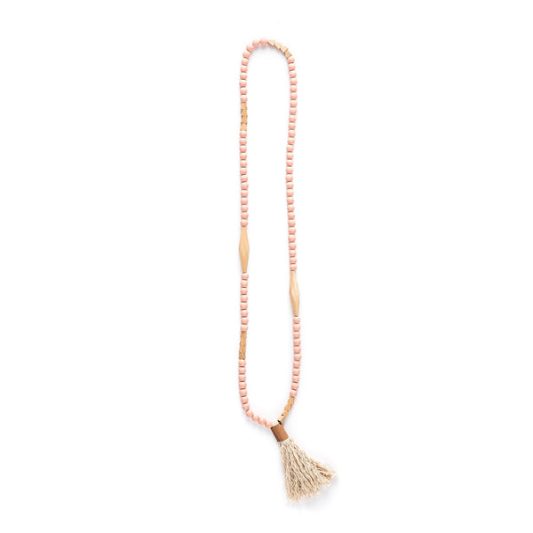 Tent Beads Necklace - Blush