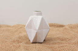 Metric Vase - White WAS $45 ~ NOW $27