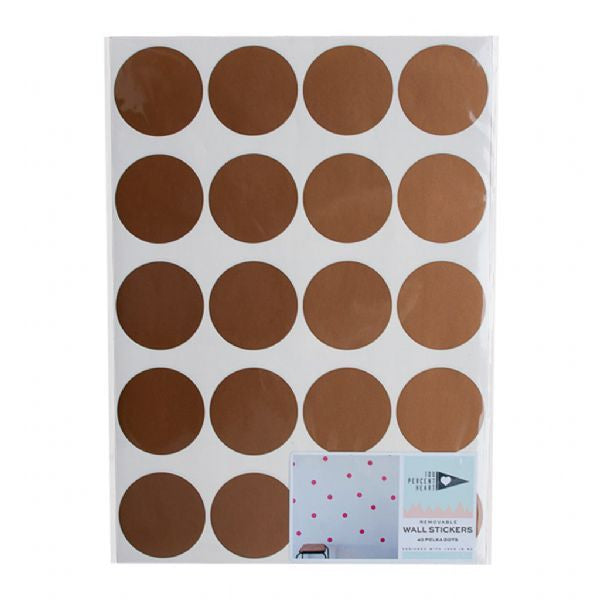 Wall Stickers - Lge Copper Dots ~ WAS $49.95 - NOW $29.95