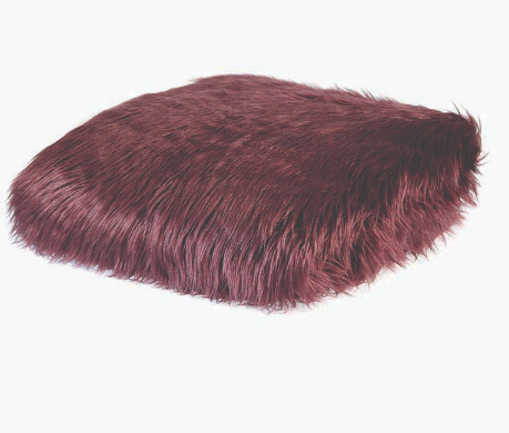 Kashmir Claret Faux Fur Throw